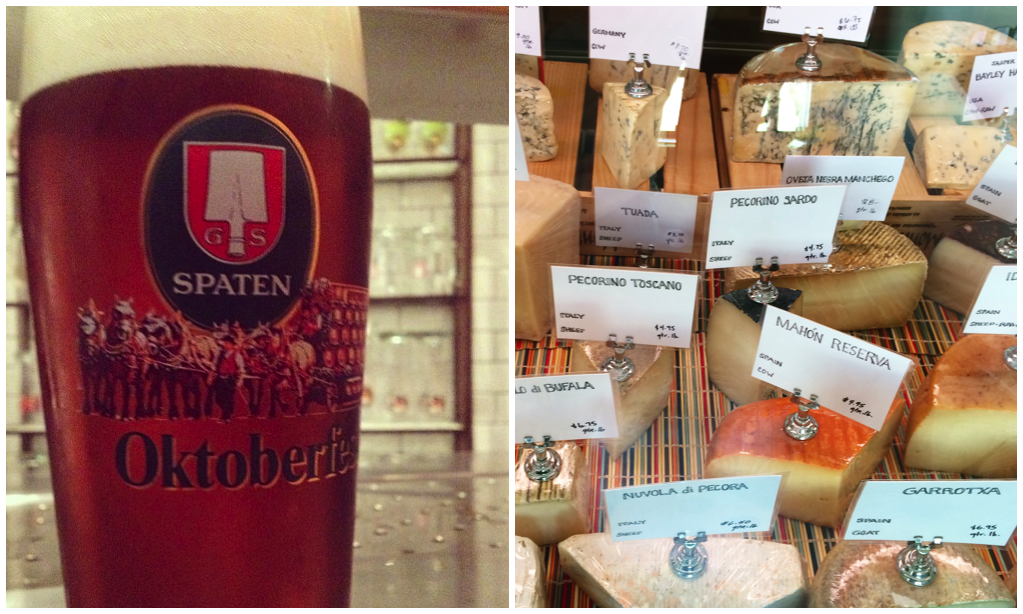 Wheel House Cheese Shop pairs up with Wurstkuche to offer a beer and cheese flight for LA Beer Week.