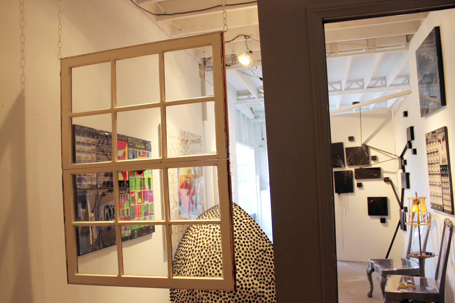 Budman's hanging wall installation at the WNDO gallery on display now through September 30.