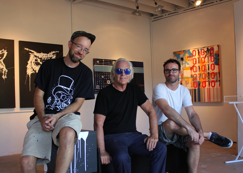 Bisco Smith, Jim Budman and Dfalt; two generations of Venice artists come together to learn from and inspire one another.