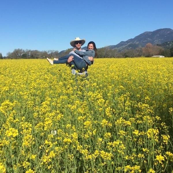 Spring time in Napa. The vines were all barren but the mustard fields were electric.