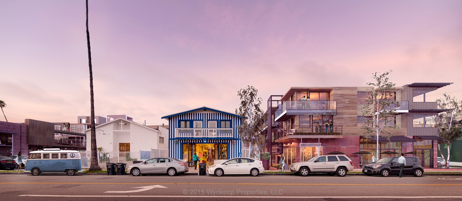 Beach House Brand, thenew clothing and lifestyle boutique with blue stripes, is not affiliated with The Venice Place Project, nor is the church.