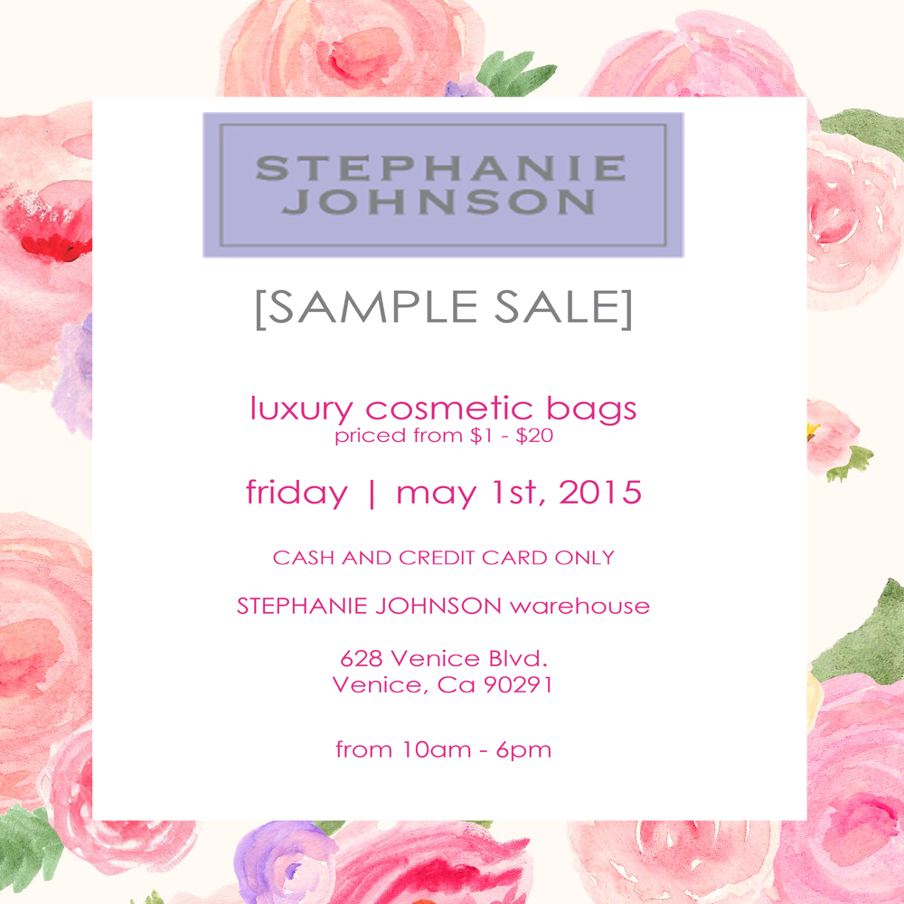 Stephanie Johnson Sample Sale