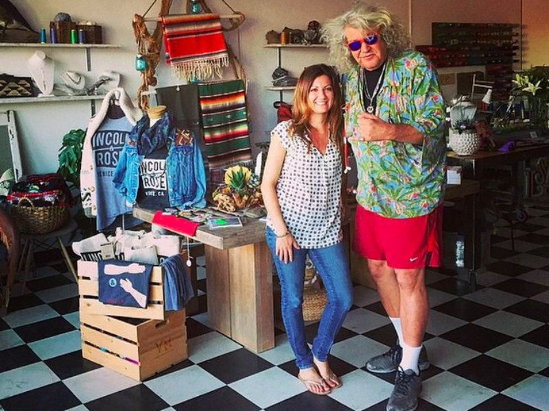"""Jeff """"The Dude"""" Dowd visiting us at our holiday shop last year."""