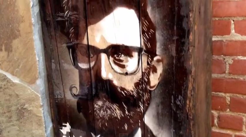 """Abbot Hipster"" mural by Flavio Campagna Kampah."
