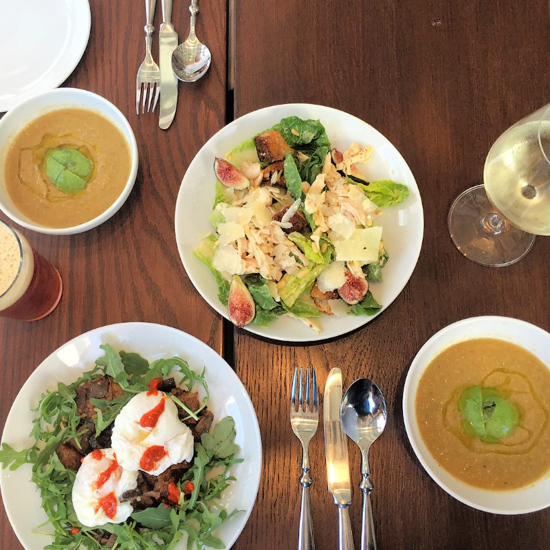 Summer salads and chilled gazpacho. ( Photo by Nicole Urso Reed  @lincolnandrose  .)