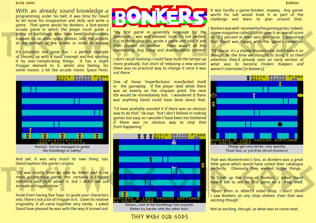 Some people have said I must be bonkers. Maybe I am!