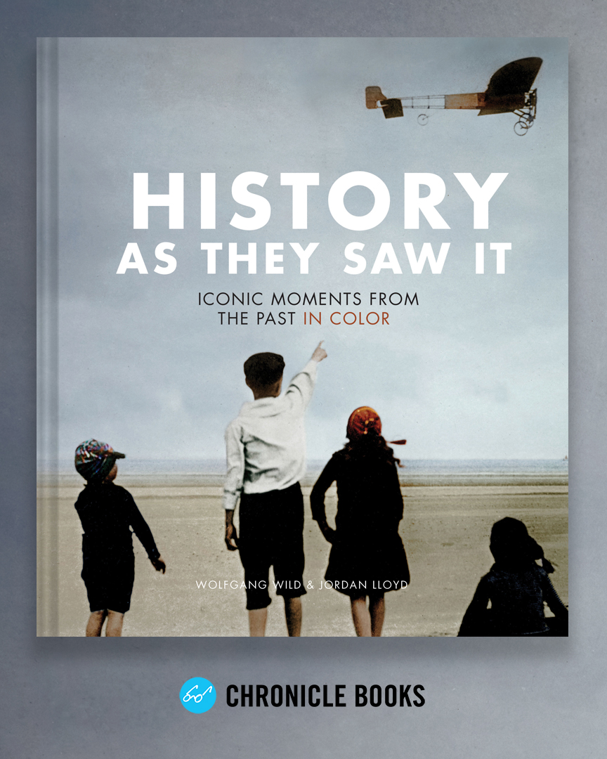 History As They Saw It - Chronicle BooksThis revolutionary photography collection is as close to time travel as it gets. Featuring 120 historic black-and-white photographs thoroughly restored and rendered in color, this book illuminates some of the most iconic moments in history, from the sinking of the Titanic to the construction of the Golden Gate Bridge.If you're from the UK, please note that this is the American version of The Paper Time Machine, published by Unbound.
