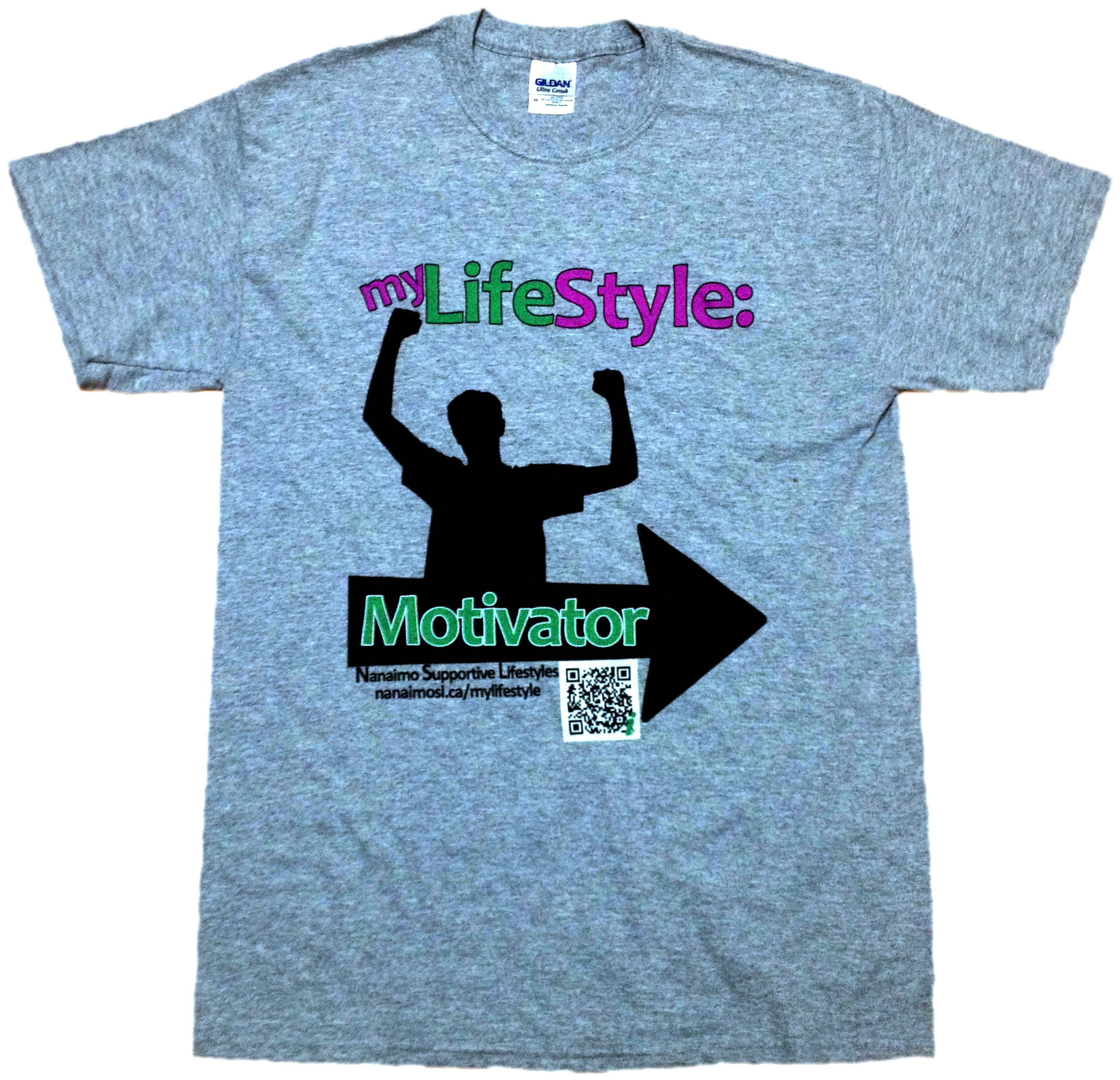 myLifeStyle: A tshirt for any client that sets a goal and achieves it. Customized with their own tag line to help them be proud of their achievement.