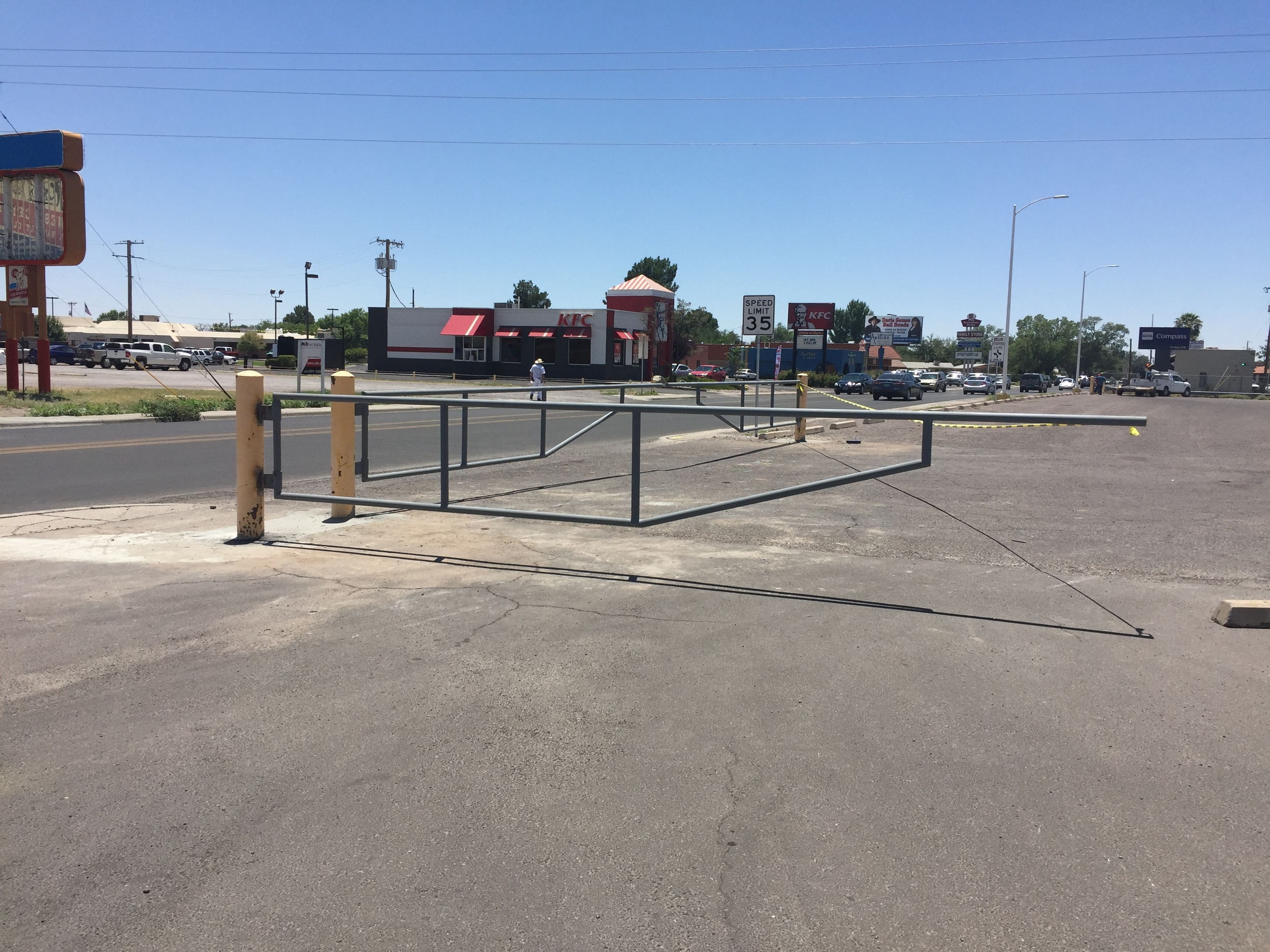 Safety Gates Installed in Parking Lot