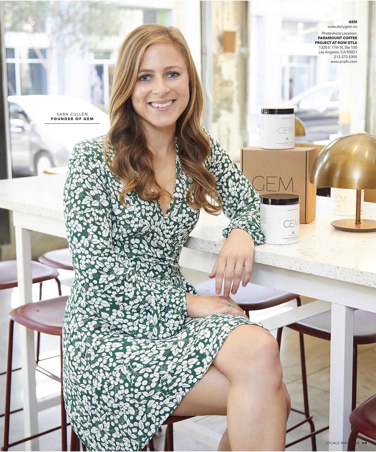 Sara Cullen: Founder of GEM (vitamins)