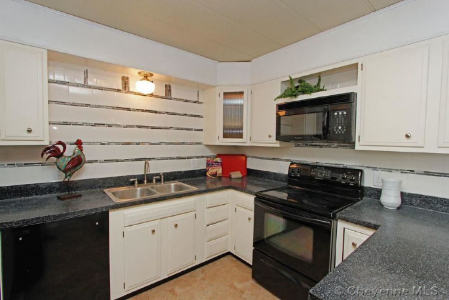 the updated kitchen stood out in this renovation!