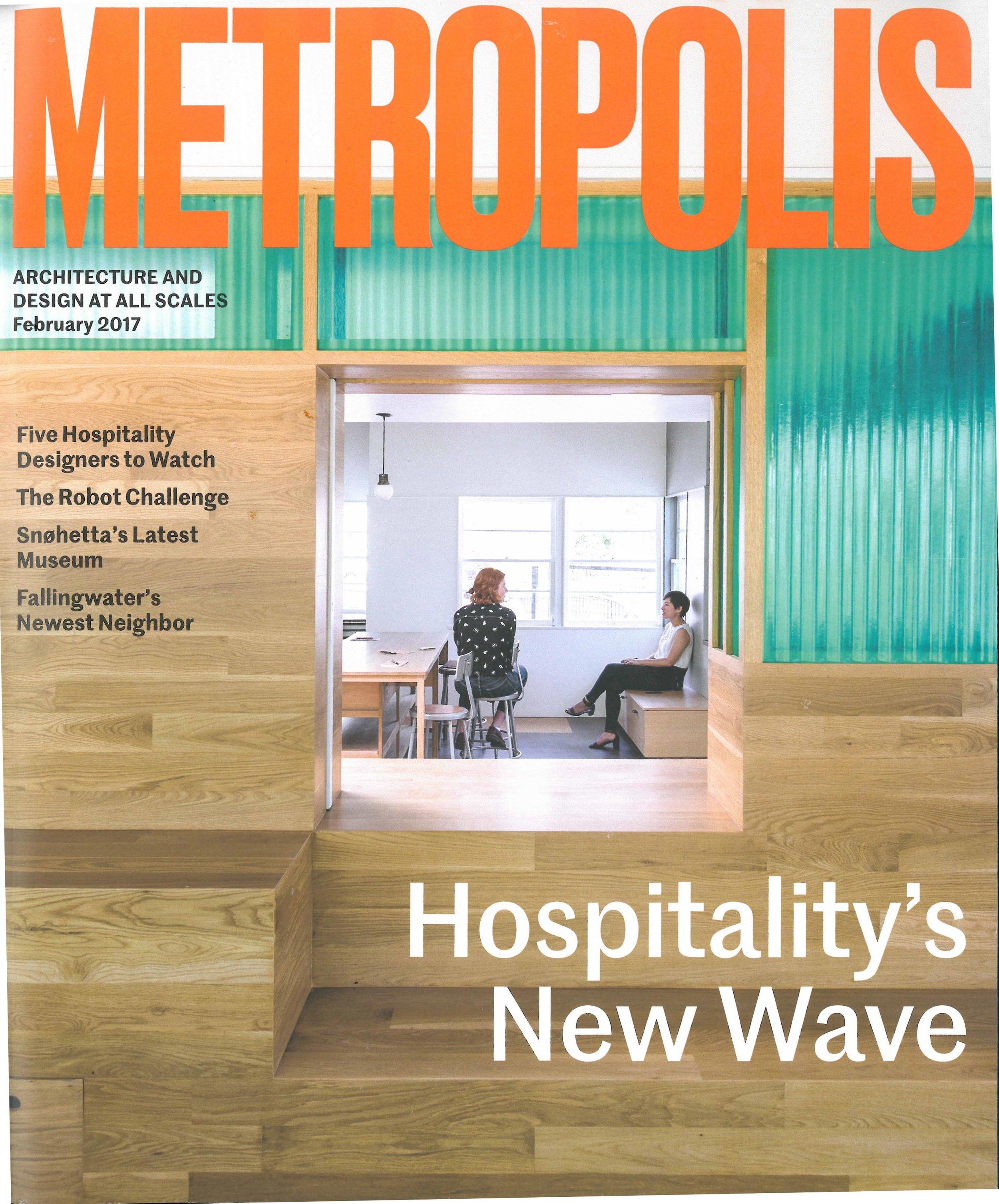 Metropolis Think Tank: Metropolis X Shulman+Associates. Metropolis: Architecture and design at all scales, February 2017      MORE >>