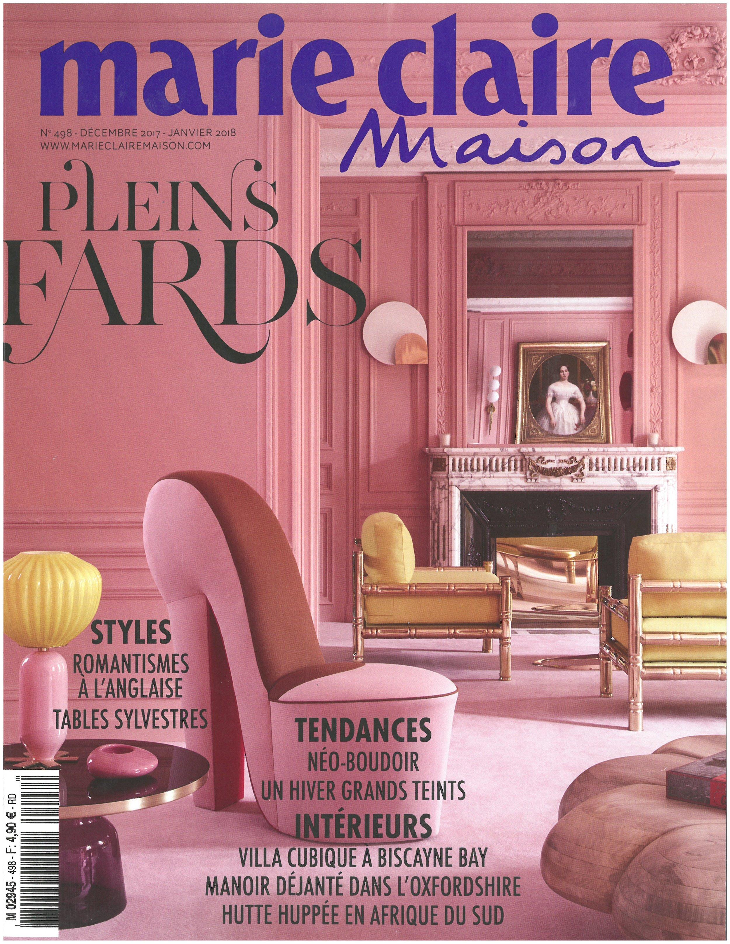 "Desnos-Bre, Anne. ""Interview: Allan Shulman,"" Marie Claire Maison, November 2017        MORE >>"