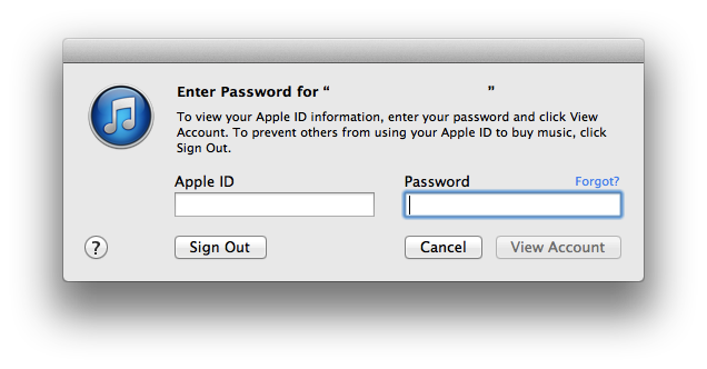 "Click on ""Account."" You will then be met with this sign in dialog:"