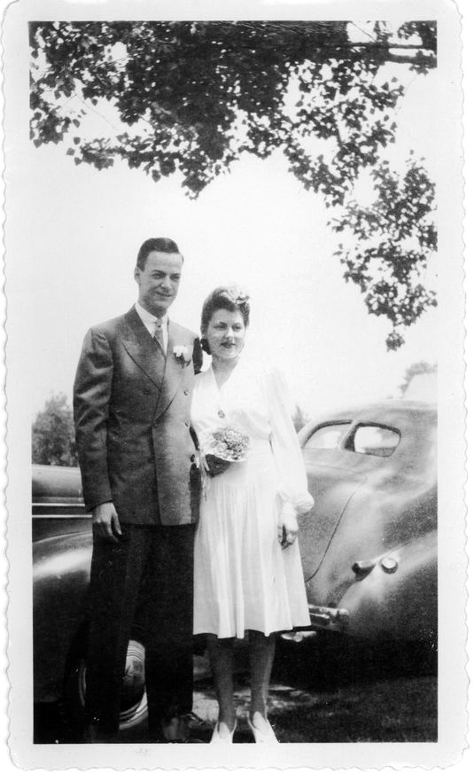Richard and Arline on their wedding day