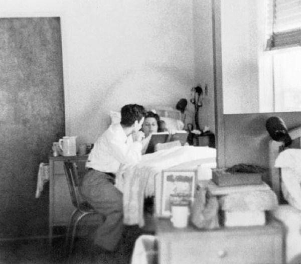 Richard and Arline at the Albuquerque sanatorium