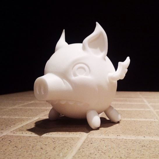 3d flying pig