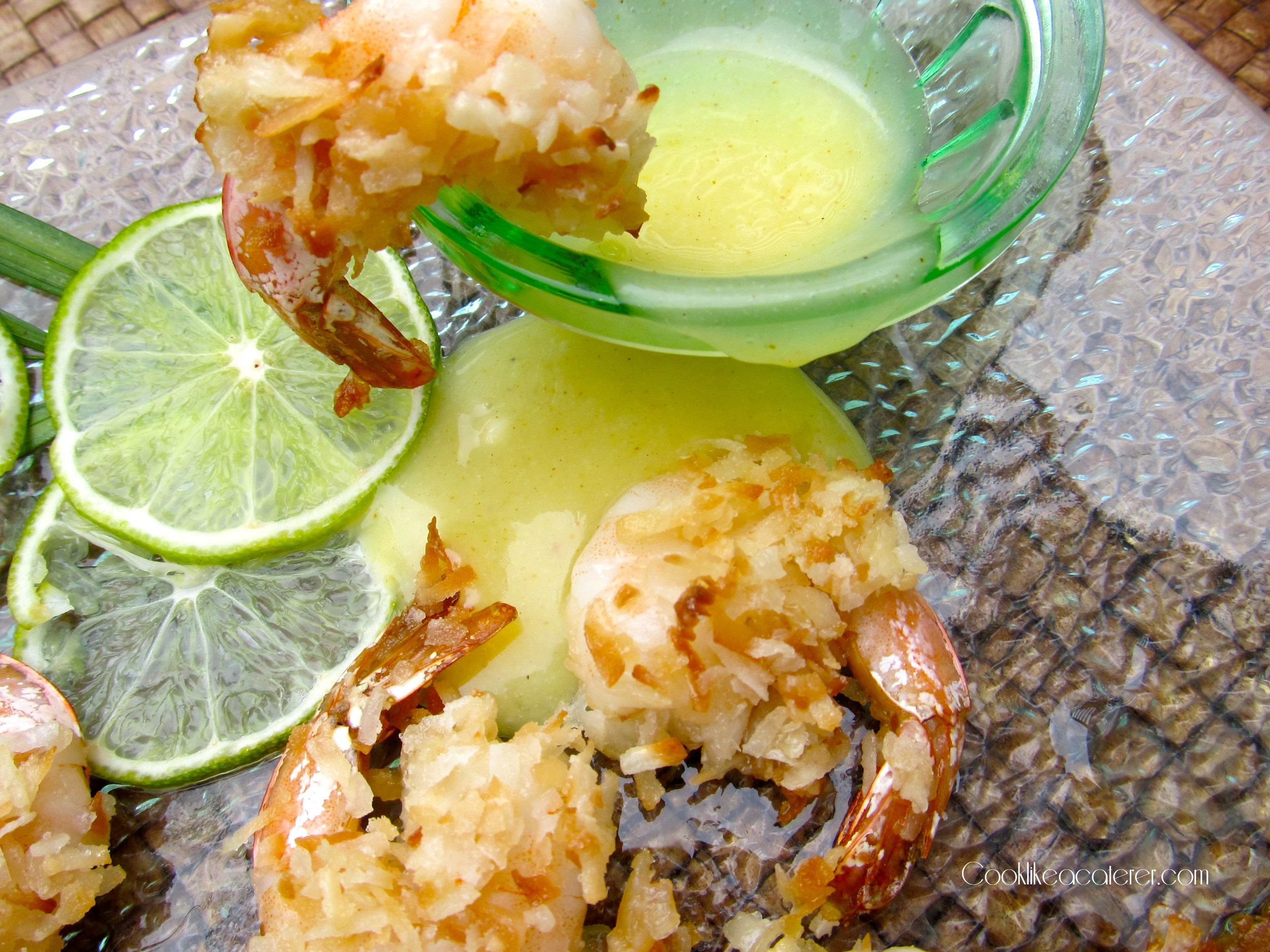 Coconut Shrimp with Curried Apricot Sauce