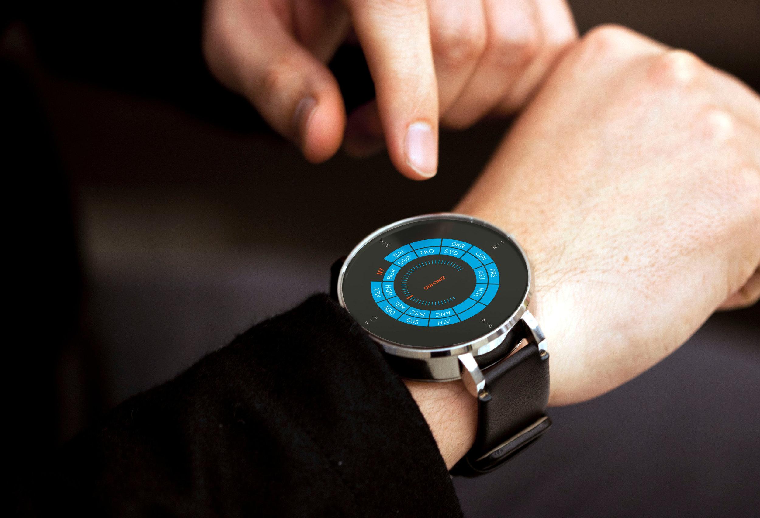 Zincro - Wearable Computing UI Concept