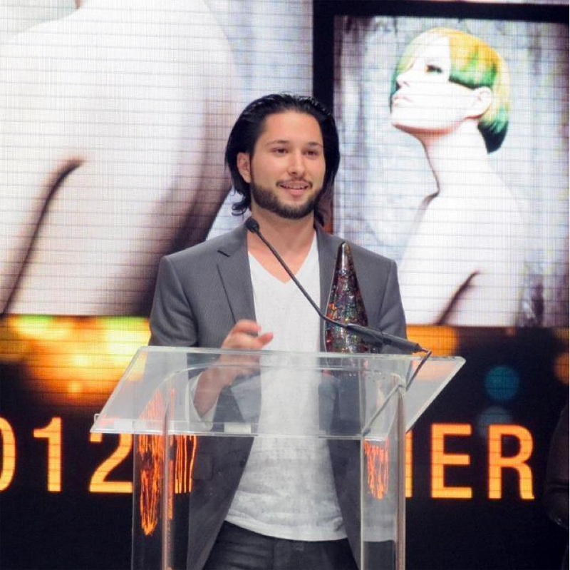 Sal accepting 2012 NAHA award for Newcomer of the Year