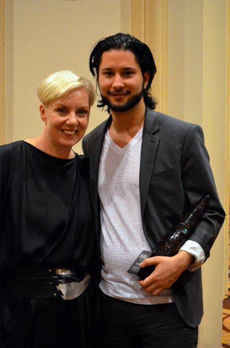 Sal pictured with Antoinette Beenders, Aveda Senior Vice President of Creative & Global Creative Director of Aveda, at the 2012 NAHA
