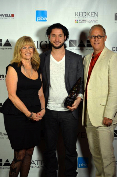 Sal pictured with Nancy & Ed Brown, Owners of Ladies & Gentlemen Salon & Spa, at the 2012 NAHA
