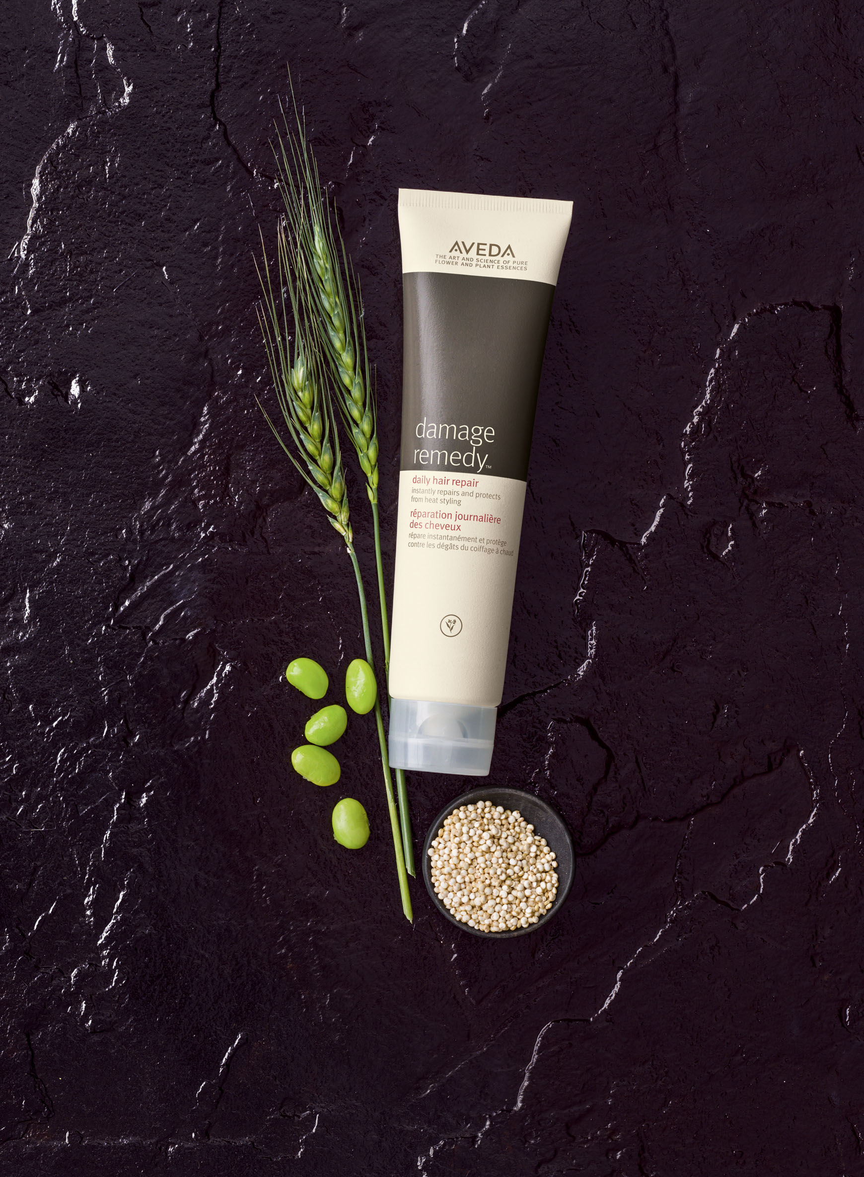 The quinoa protein in Damage Remedy products nurtures hair and restores its health.