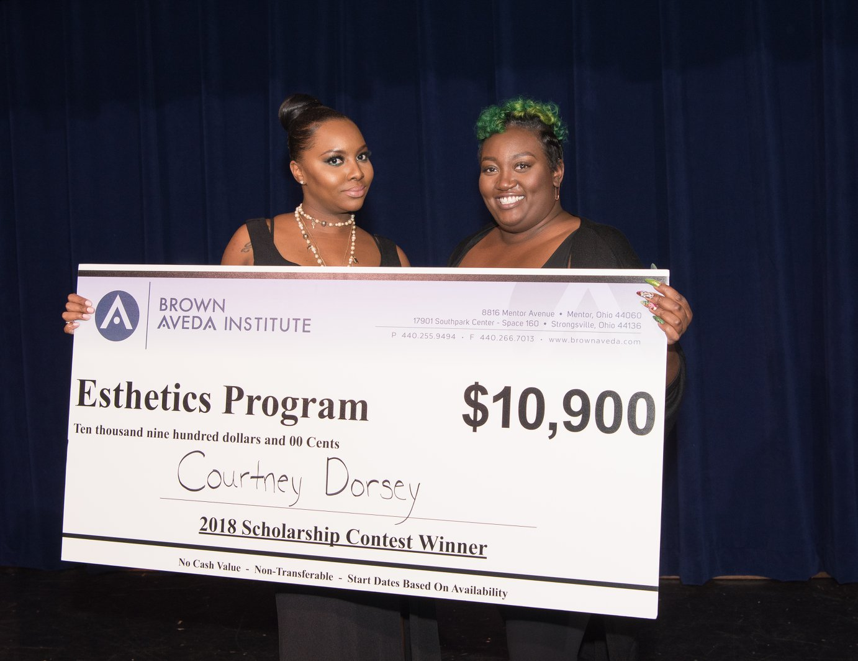 brown aveda 2018 scholarship winners