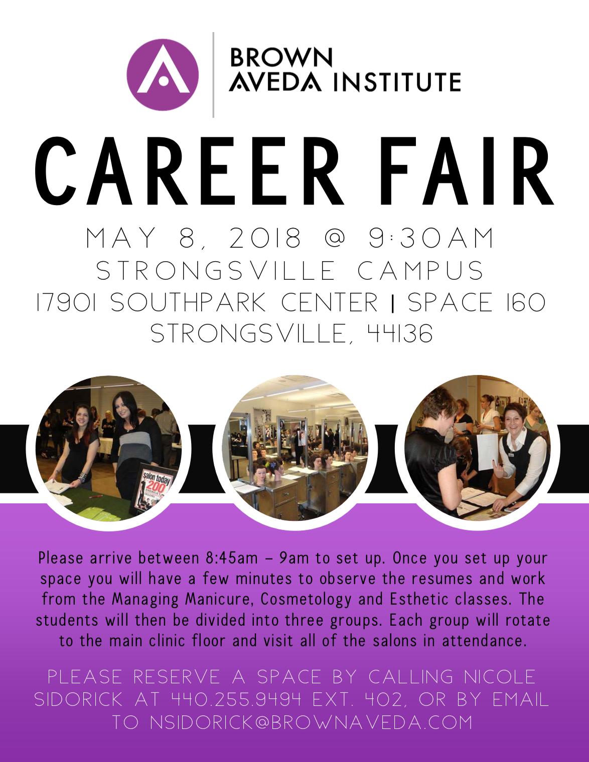 career fair brown aveda institute strongsville