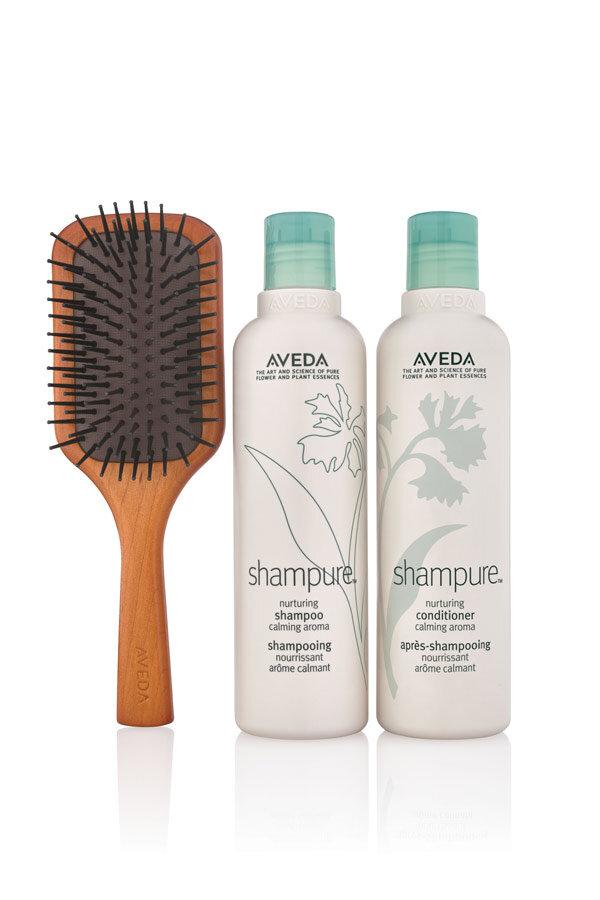 Shampure Calming Hair Care + Brush Set