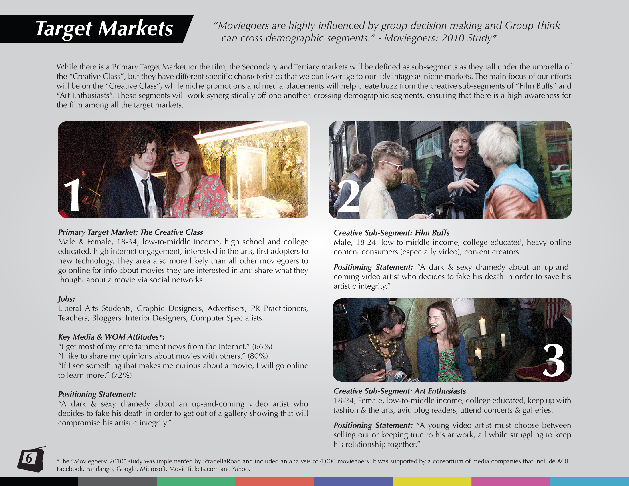 Sample Page: Target Markets