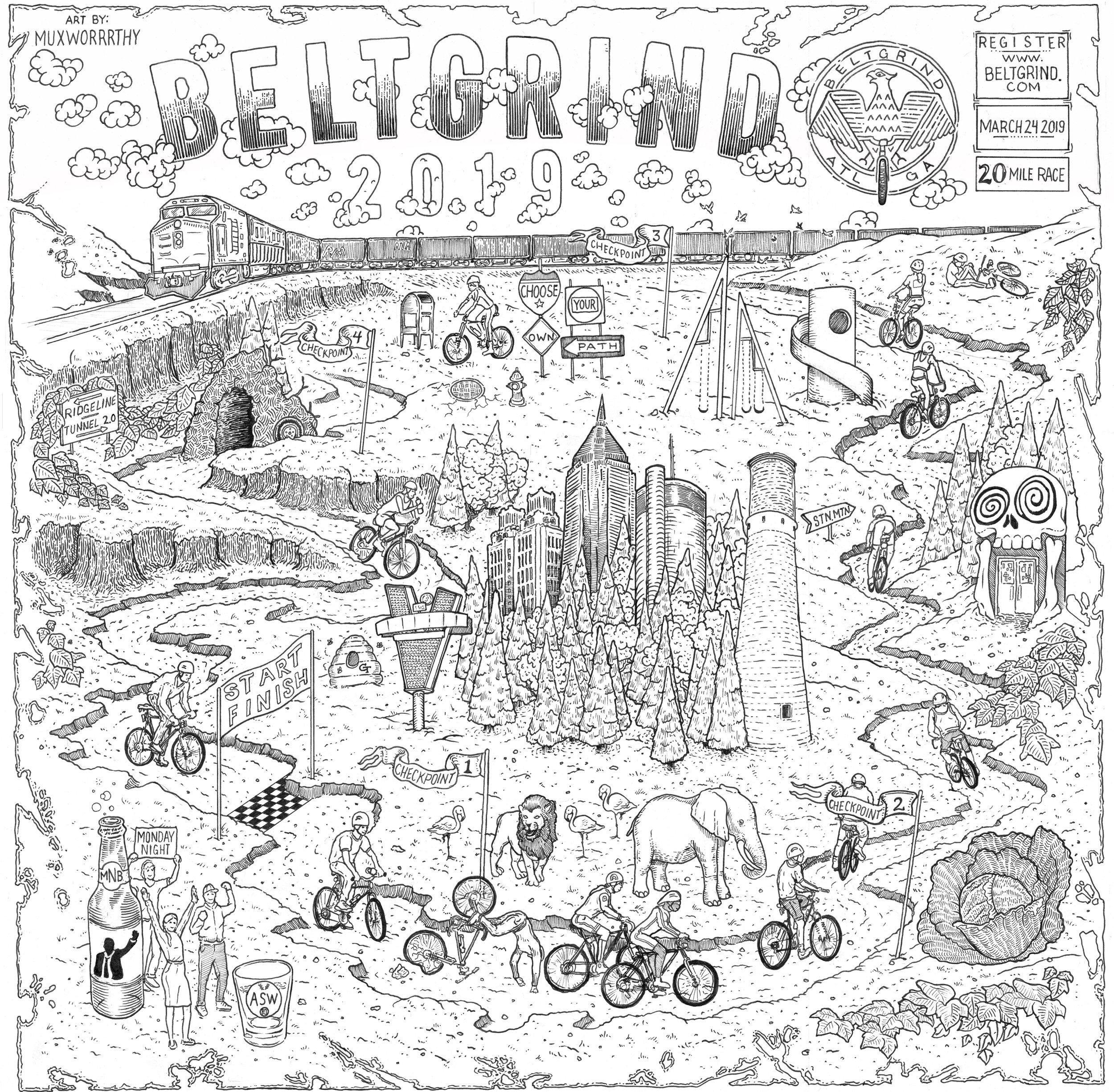 """""""Beltgrind 2019 Promotional Poster"""" 2018"""