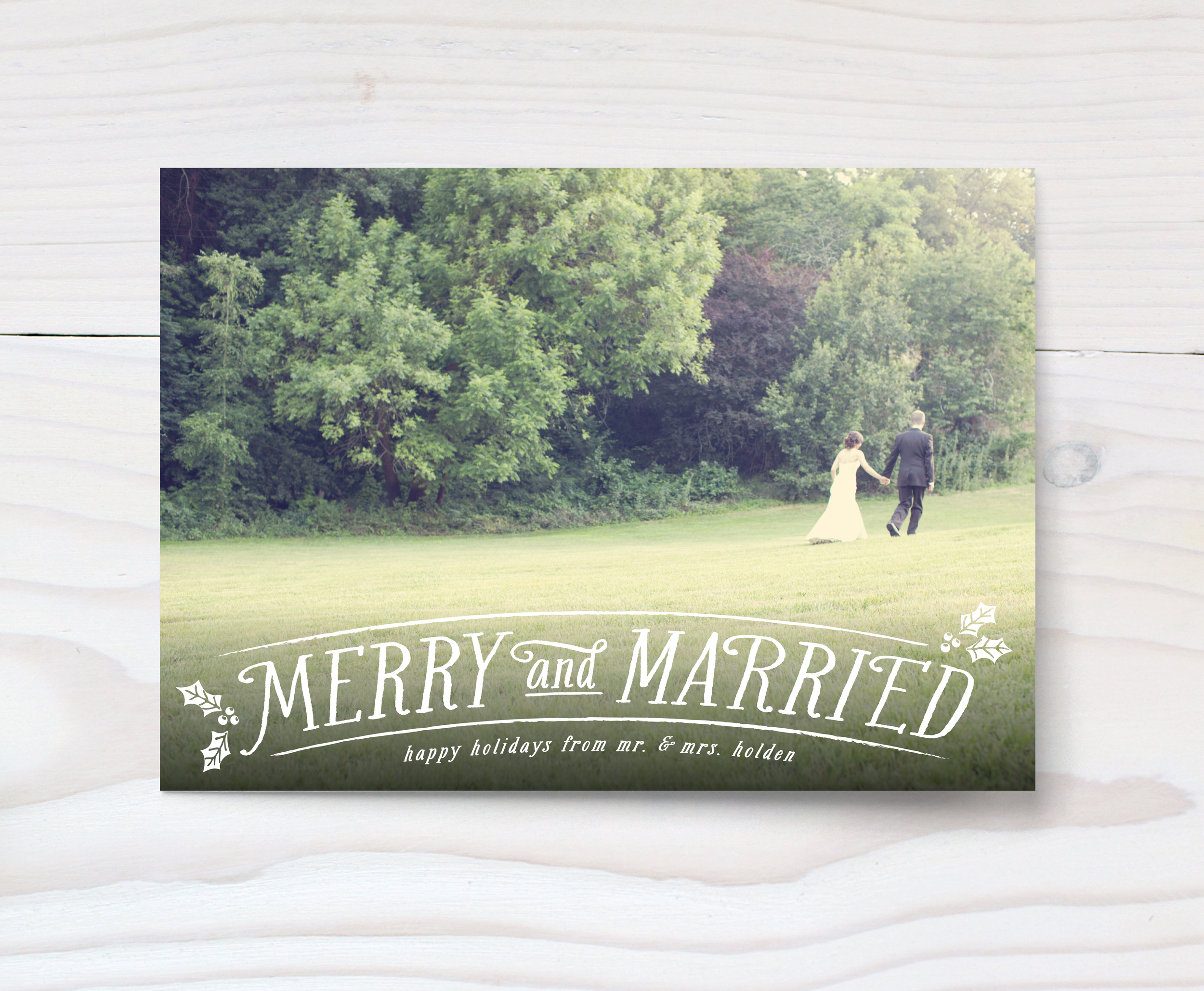 Merry and Married Holiday Photo Card by Hooray Creative for Minted 2.jpg
