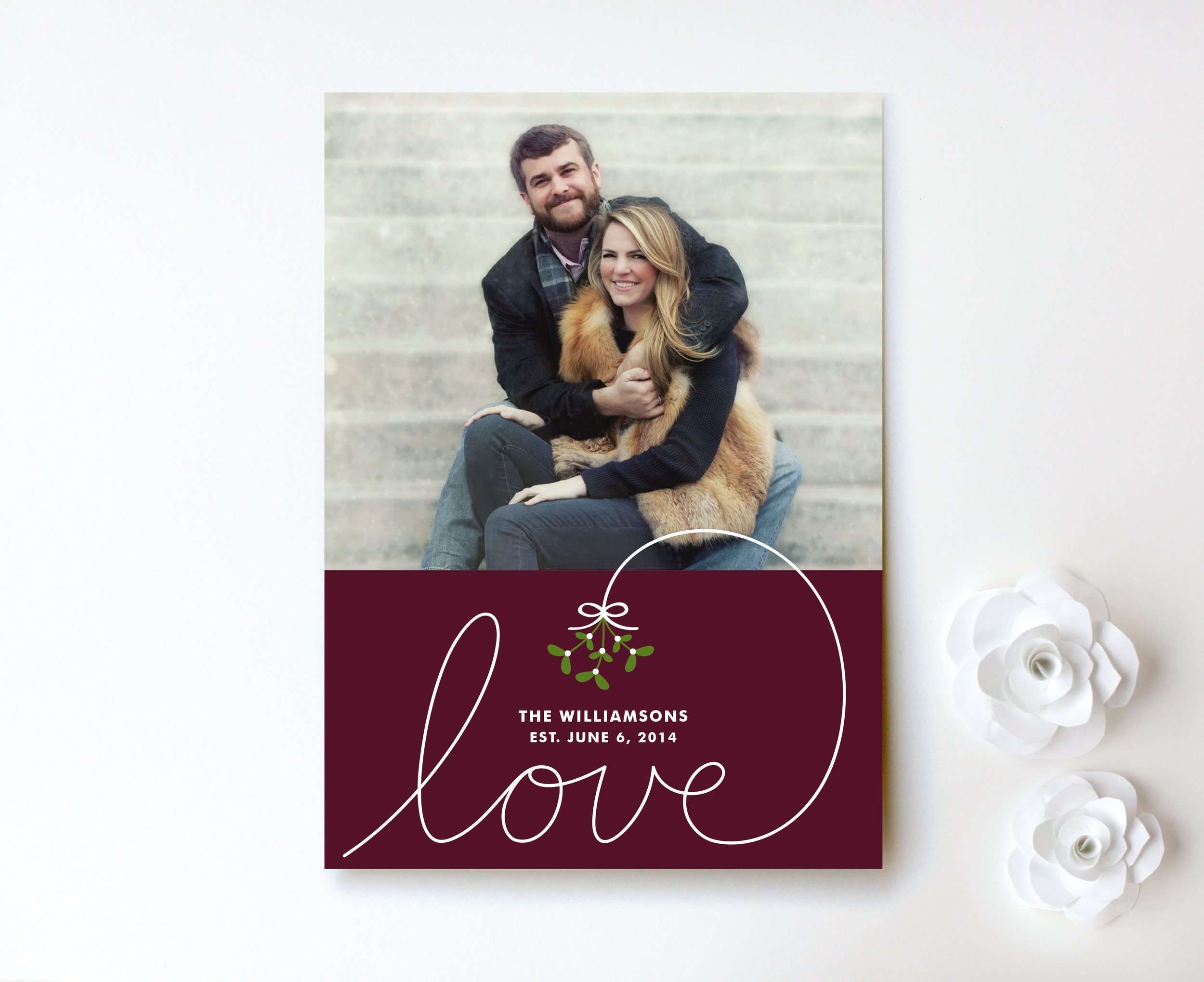 Under the Mistletoe Holiday Photo Card by Kim Dietrich Elam for Minted 2.jpg