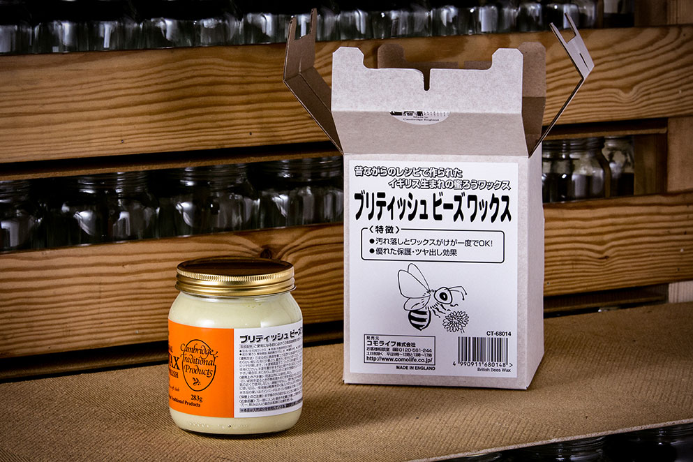 Hand made beeswax furniture polish with Chinese labeling - Cambridge Traditional Products