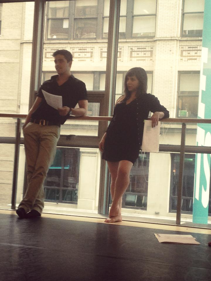 Helena and Demetrius rehearsing at New York Live Arts