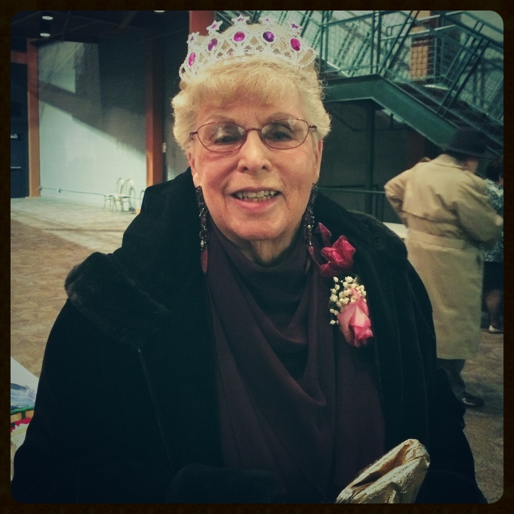 Her Majesty, the Queen, on the evening of her gala. 90 looks pretty good on her.