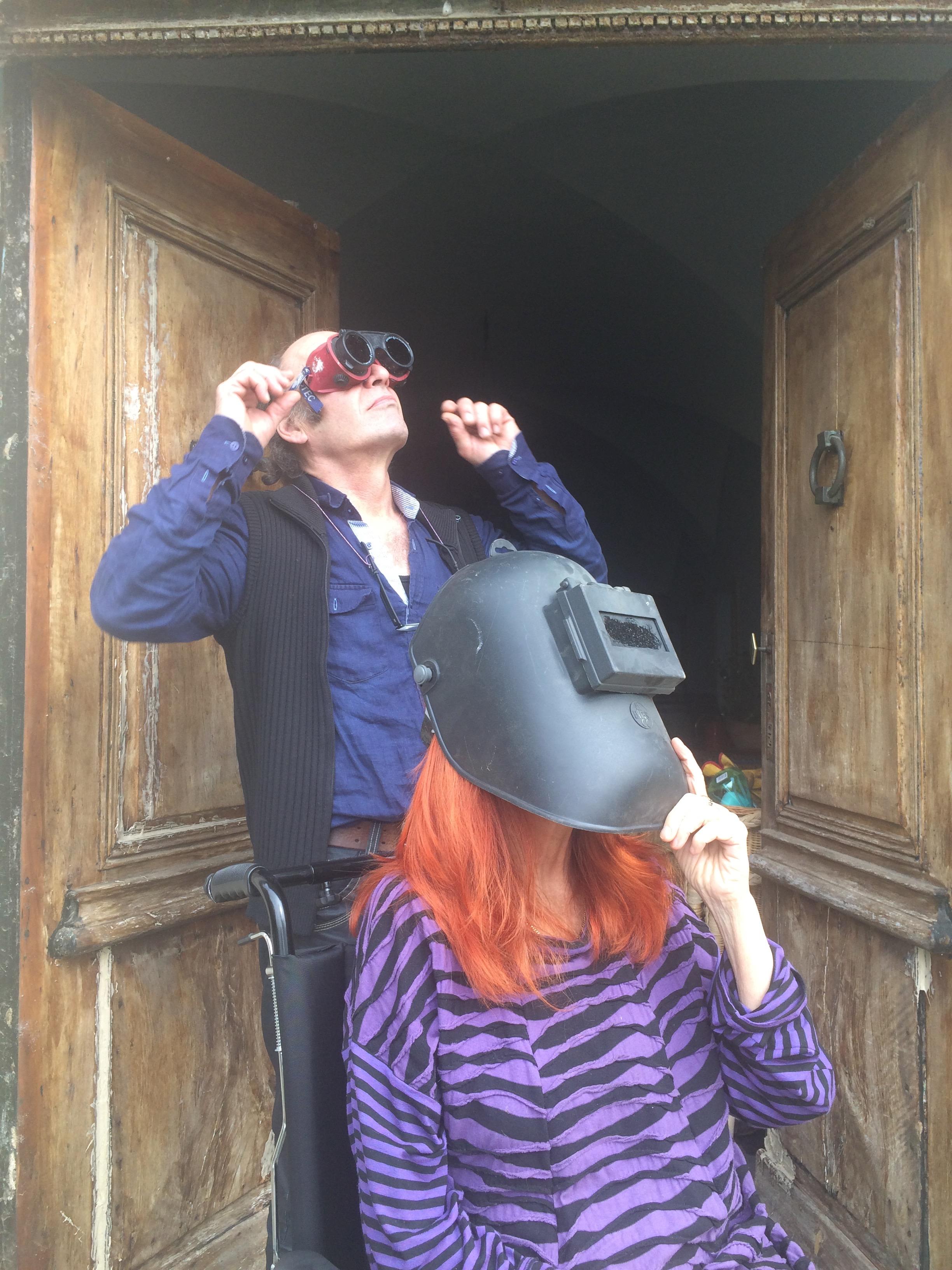 L'éclipse depuis la terre