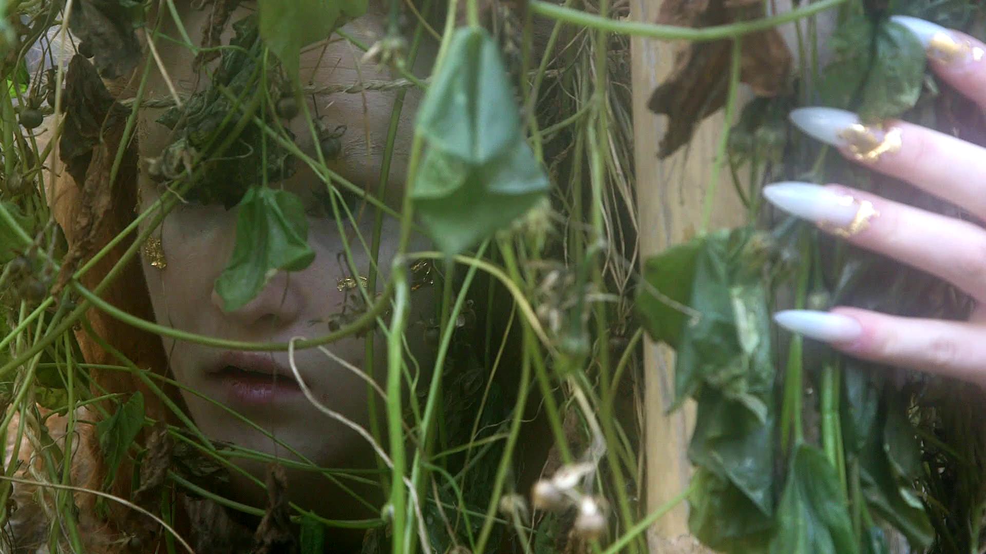 Still of Ella Mack in the upcoming Halfstache Productions short film, Underhill.