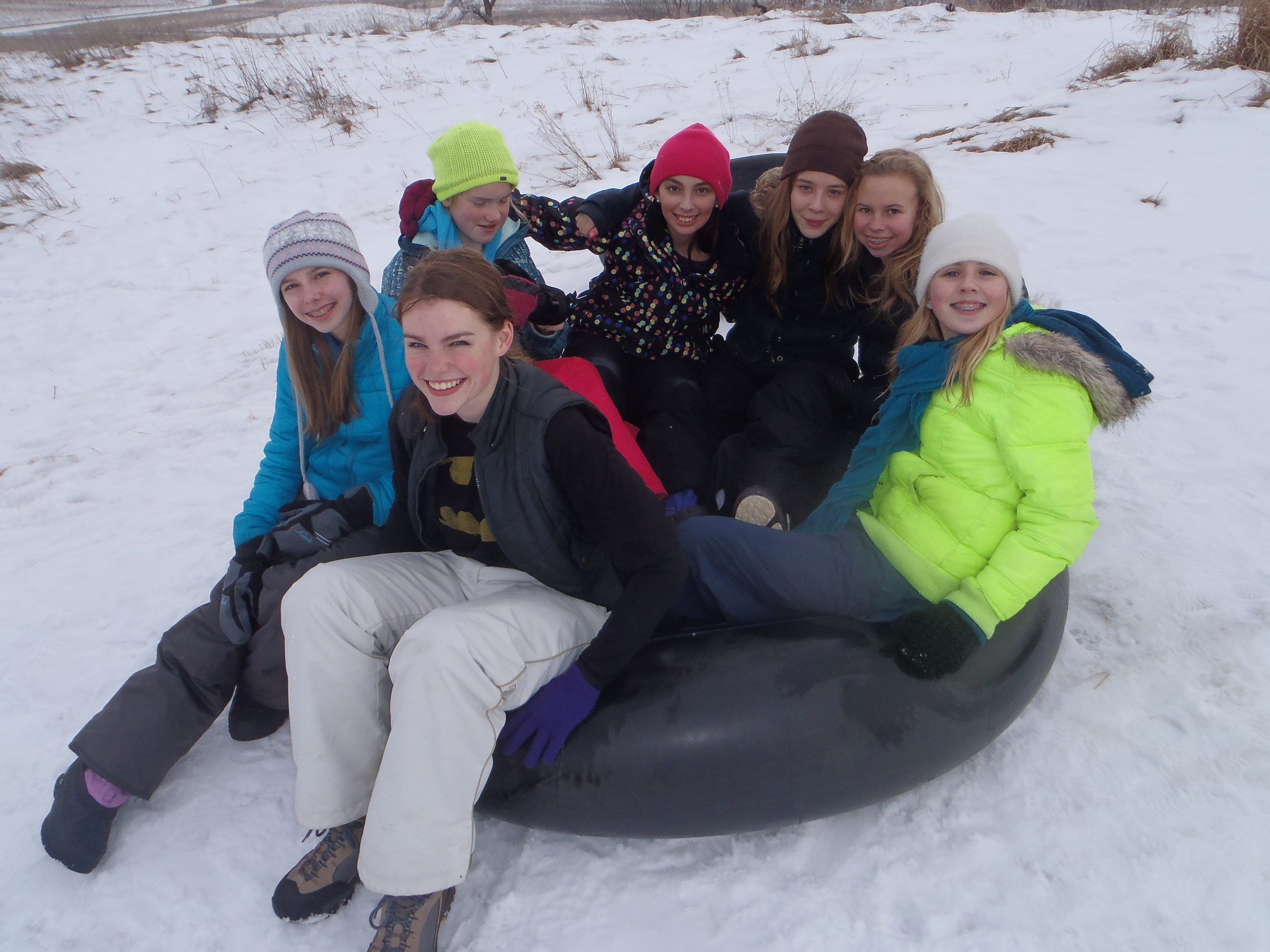 Young Women in the Woods: Tubing at Frontenac