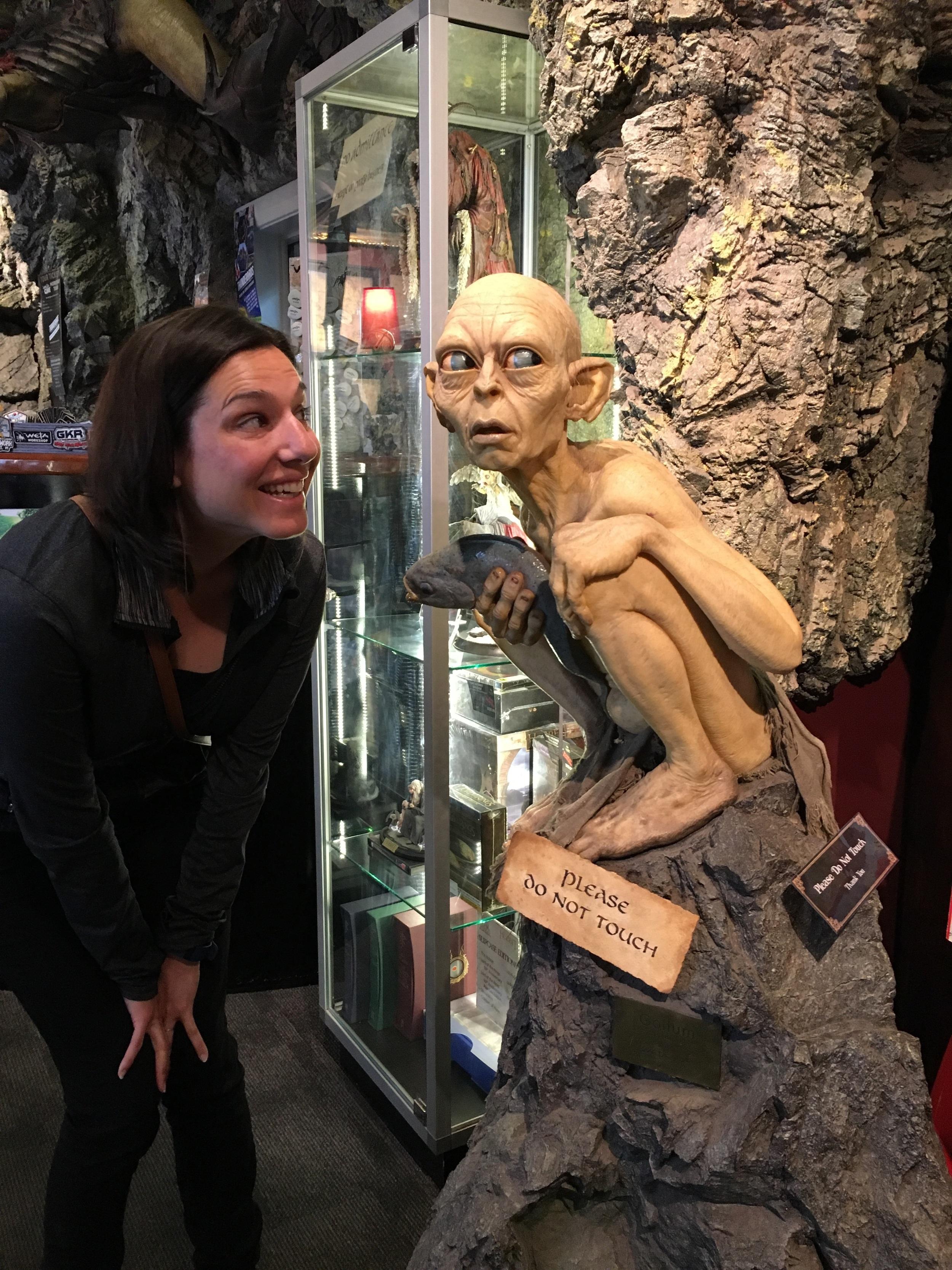Sus and Gollum at Weta Cave