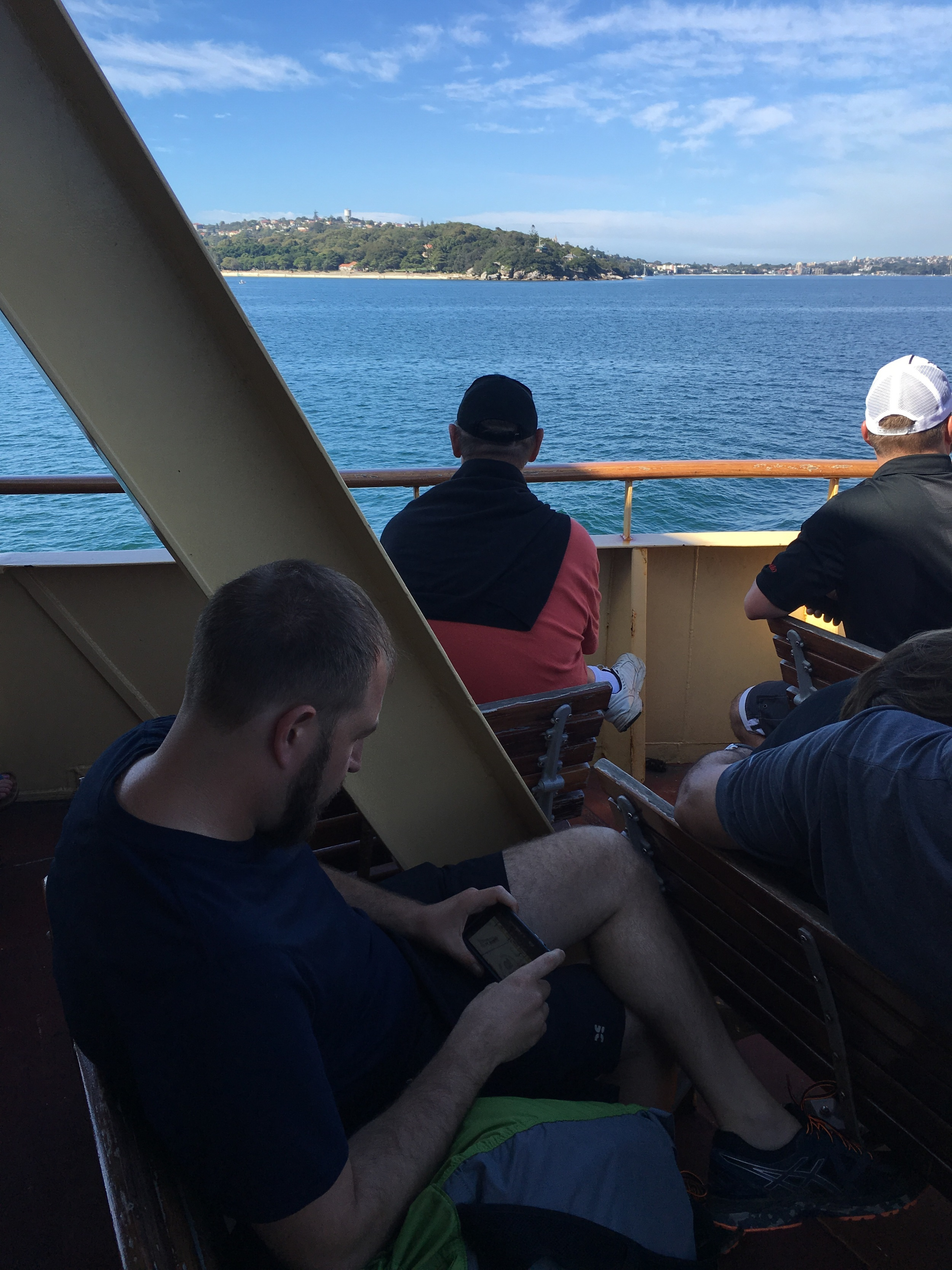 Taking in the sights on the ferry to Manly Beach