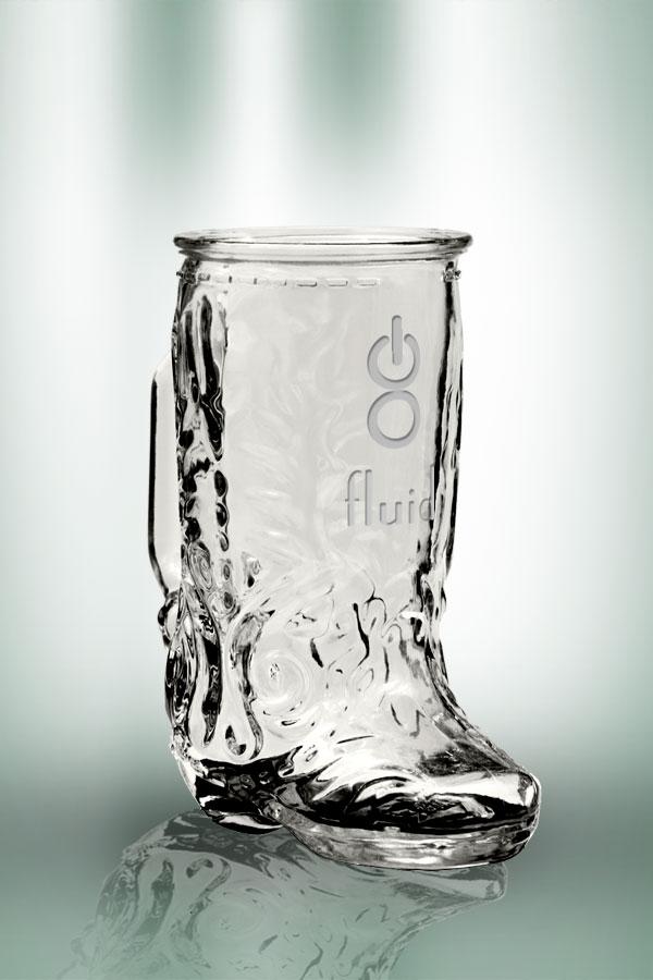 Clear Boot Mug 17 oz