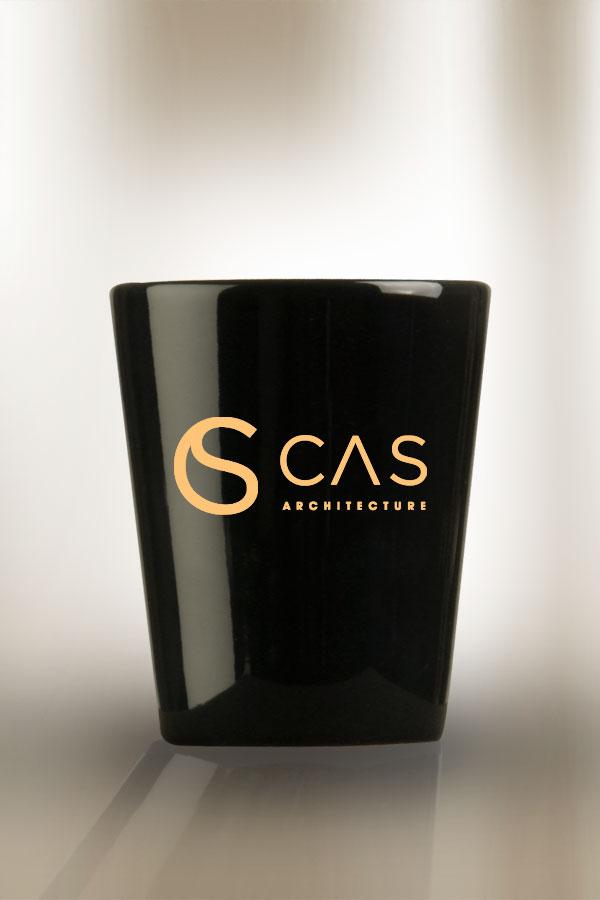 Black Ceramic 1-1/2 oz