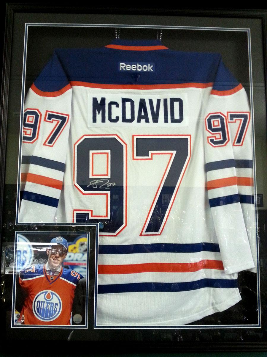 McDavid Jersey Framed Signed.