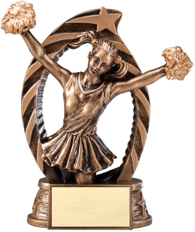 Cheerleading and Gymnastics trophies