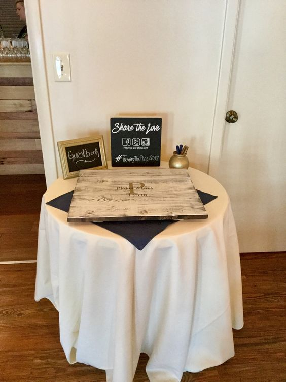 "Guest Book Table - 30"" round"