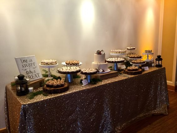 8' table for Desserts/Head Table