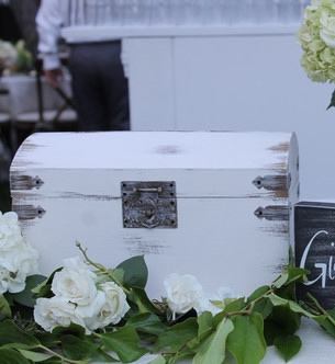 Distressed White Card Box
