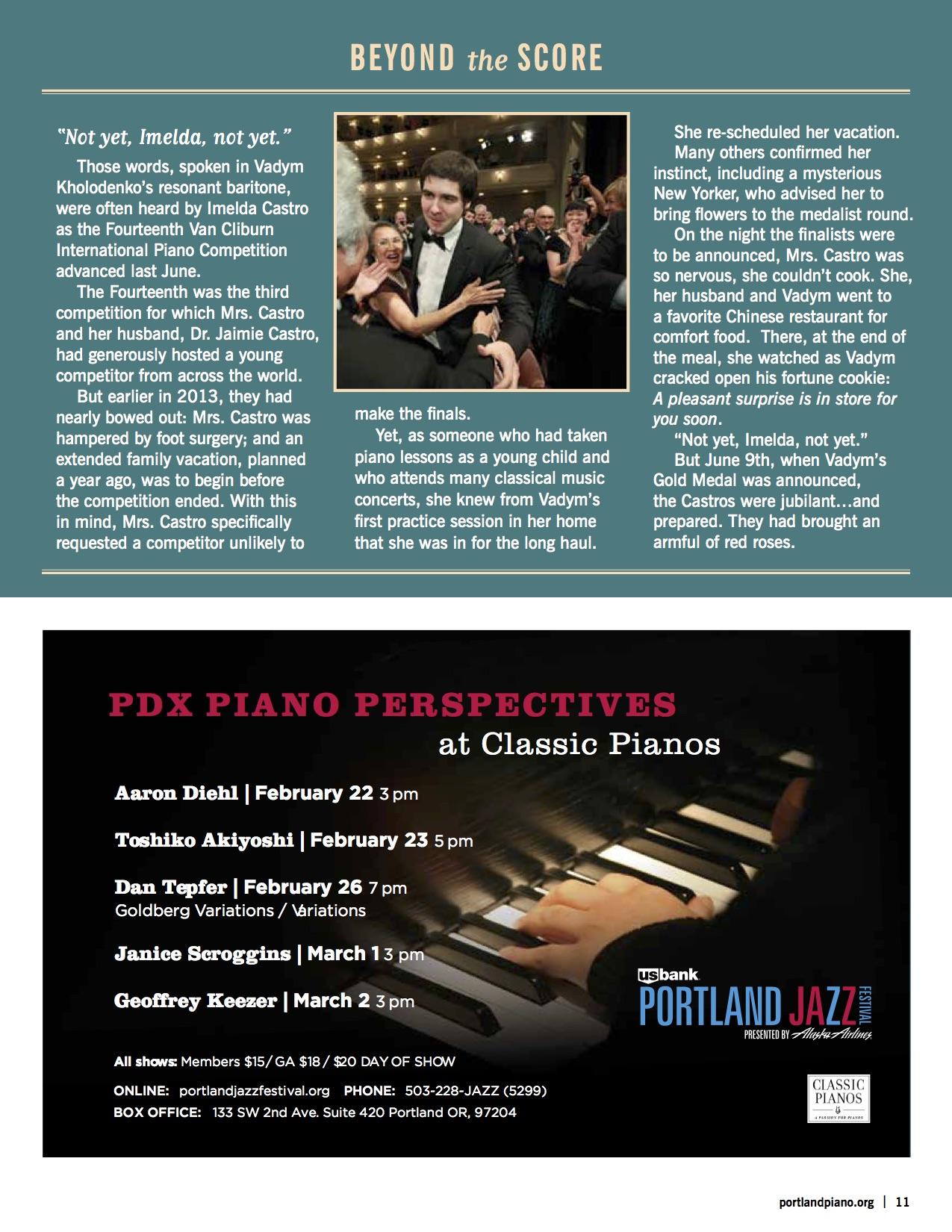 Kholodenko Program — Portland Piano International